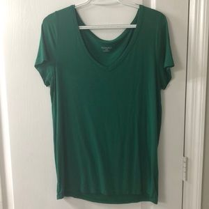 Kelly Green Merona V Neck T Shirt